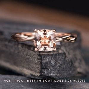 Jewelry - Morganite Braided Solitaire Ring